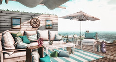 Just a smell of Summer (desiredarkrose) Tags: summer furniture sldecor slblog cheekypea colorful sea secondlife virtualphotography virtualworld interior