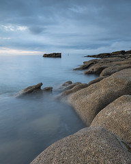 Blue (Peter Henry Photography) Tags: water sea coast rocks beach tide colour blue dusk nikon sigma sigmaart 20mm wideangle seascape