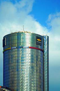 Central tower of GM Renaissance Center, Detroit