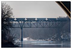 Intersecting Journeys (JohnKuriyan) Tags: minneapolis minnesota unitedstates us freight train mississippi river