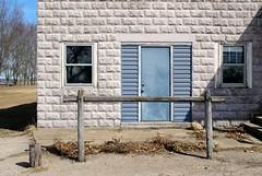 Hitching Post - Virgil, Illinois (Cragin Spring) Tags: unitedstates usa unitedstatesofamerica midwest illinois il building virgil virgilillinois virgilil door hitchingpost rural