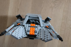 Front view (Cpt. Ammogeddon) Tags: star wars movie hith snow speeder vehicle space battle ship fan science fiction toy lego moc custom