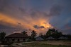Over the Top - Sunset in a Jungle Mountain Village (0814) (Stefan Beckhusen) Tags: sunset sunrise dawn village mountain forest rainforest jungle tropic exotic buildings homes simplelife sky clouds paci manggarai flores indonesia lifestyle