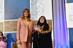 First Lady Melania Trump Presents the 2018 IWOC Award to Aliyah Khalaf Saleh of Iraq (U.S. Department of State) Tags: flotus melaniatrump iwoc iwoc2018 internationalwomenofcourage womenofcourage aliyahkhalafsaleh iraq