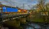 66099 at Bromford Bridge (robmcrorie) Tags: 66099 class 66 train rail railway freight 4m71 southampton birch coppice intermodal nikon d7500 river tame bromford bridge birmingham hink i think chap water is con