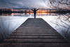 Winter sunset (Stéphane Sélo Photographies) Tags: france natureetpaysages paysage pentax pentaxk3ii ponton rhône saône sigma1020f456 ain blending clouds crue eau fleuve inondation landscape nature nuages orage rivière