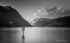 Baignade interdite (Raph/D) Tags: ponton lac lake eau water plan pose longue long exposure lee filters big stopper movement bourget savoie france stormy weather canon eos 7d mark ii l series 2470mm ef f28l usm catchy colors landscape alpes bourdeau pontoon mer montagne ciel baie bateau paysage selective sign baignade interdite forbidden bathing panneau