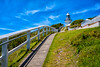 Smoky Cape Lighthouse (Claude Downunder) Tags: smokycapelighthouse smokycape lighthouse fence footpath sidewalk grass sky southwestrocks nsw australia white historic touristattraction lookout landscape