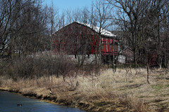 """Red barn (Millie Cruz * """"On and Off-Busy"""") Tags: barn red stoeversdampark lebanonpa outdoors nature geese lake water tamron150600 spring winter soe inspiredbylove rural country"""