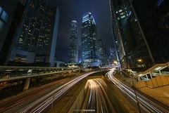 Hong Kong light trails (Antoni Figueras) Tags: hongkong night buildings lighttrails traffic longexposure cityscape central financialdisctrict twointernationalfinancecentre oneinternationalfinancecentre sonya7rii sony1635f4