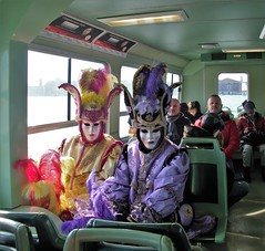 Brothers ? (katarzynaŚ) Tags: venice costume masks people pa passanger brothers passangers public transport men disquise