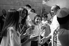 Celebration (michael.mu) Tags: jerusalem jewishquarter theleicameet celebration leica 35mm leicasummicronm1235mmasph westernwall barmitzvah streetphotography bw blackandwhite monochrome