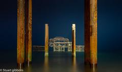 West Pest at Night (stuartgibbons95) Tags: brighton calm cloudy night westpier pier beach sea sussex seaside seascape