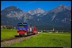 Zillertalbahn D15, Strass im Zillertal 14-08-2017 (Henk Zwoferink) Tags: schlitters tirol oostenrijk at henk zwoferink zillertalbahn zillertal zb strass im d15 gmeinder