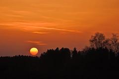 just another sunset... (Claude@Munich) Tags: germany bavaria upperbavaria grosdingharting sunset sun silhouette evening claudemunich bayern oberbayern sonnenuntergang abends abend abendstimmung rot orange