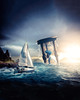 HourSail (@16th Digital) Tags: hourglass water sail boat sea ocean sun shine 16th digital outdoor dark bright beautiful photoshop photomanipulation photo manipulation