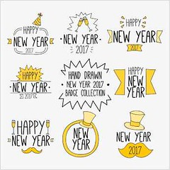 free vector Happy New Year 2017 Tags & Logos (cgvector) Tags: amp 2017 background balloons banner card celebrate collection day design greeting happy logo logos month new night party poster red set smile tag tags time vector year year2017