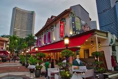Restaurants near Sultan Mosque in Singapore (UweBKK (α 77 on )) Tags: restaurants mediterranean cuisine outdoor seating evening sultan mosque masjid singapore southeast asia sony alpha 77 slt dslr