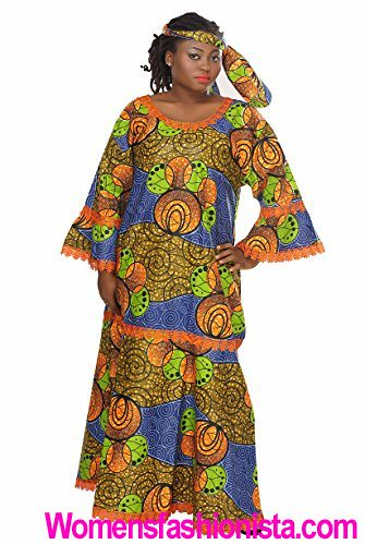 76f22058f05 African Planet Women s Dress Queen Wedding Inspired Maxi with Gele headwrap  (womensfashionista) Tags