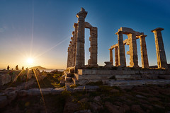 temple of poseidon (brilandis) Tags: sony a7rii zeiss variotessartfe41635 greece sunset sky sea temple poseidon athens sounio