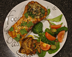 Roasted butternut squash (My healthy kitchen) Tags: roasted butternut squash thai curry wild rice green lentils salad aubergines homemade tasty yummy filling healthy satisfying ilovefood derbyshire england pentax