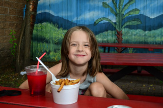 Rose Loves Her Fries and Slushie from The Chip Box!
