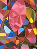 Una Maschera nello Spazio #01 - Artist: Leon 47 ( Leon XLVII ) (leon 47) Tags: mask space leon 47 xlvii abstract painting metaphysical metafisica metaphysics enigma surrealism surrealismo triangulism art triangolismo arte astratta windows finestre minimalism minimalismo maschera