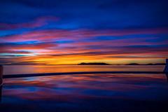 Oceanfront sunset
