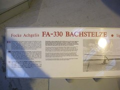 "Focke-Achgelis FA 330 Bachstelze 1 • <a style=""font-size:0.8em;"" href=""http://www.flickr.com/photos/81723459@N04/27235952758/"" target=""_blank"">View on Flickr</a>"