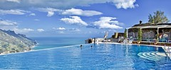 The infinitiy pool with a view (somabiswas) Tags: belmond hotel caruso ravello italy infinitypool pool mediterranean sea mountains landscape