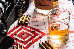 Lucvky Shot .308 glass (S.Dobbins) Tags: lucky shot glass 308 ruger american rifle leadslingers bourbon whiskey