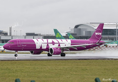 WOW Air A321-200NEO TF-SKY (birrlad) Tags: dublin dub international airport ireland aircraft aviation airplane airplanes airline airliner airlines airways taxi taxiway takeoff departing departure runway rain weather cloud wow air a321 a21n a321253h neo tfsky reykjavik ww853 keflavik