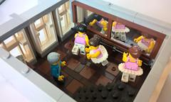 Second Floor Ballet Studio (morecitybricks) Tags: lego modular bakery ballet studio