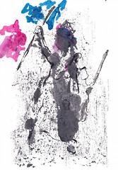 La Liberté guidant le peuple - Liberty Leading the People (Abstraction) [20180415] (rodneyvdb) Tags: abstracted art bleublancrouge contemporary delacroix drapeau drawing dress eugenedelacroix expression expressionism fashion flag femme france ink liberté liberty monotype painting paris tricolore vogue woman