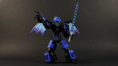 Ben Cossy: Lord of Blue (and sometimes purple) Flames - To Battle (MCLegoboy) Tags: lego bionicle moc myowncreation bencossy lord blue purple flames constraction system bionicleinspirationseries selfmoc lightsaber wings ax