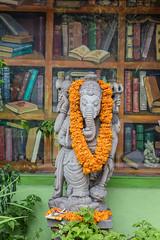 Bouncer (A Different Perspective) Tags: bali ganesha ubud bookshelf bookshop detail flower green mural orange ornament wood