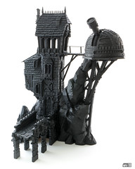 Crooked House: Primer (Will Vale) Tags: ageofsigmar skullvanemanse warscryercitadel scenery warhammer scalemodel fantasy gamesworkshop malignportents 28mm crookedhouse