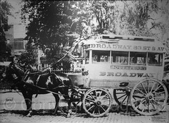 """Old Broadway Stage Horse Car"" Photograph (about 1870), New York Transit Museum, Brooklyn, New York City (jag9889) Tags: 2016 20160612 anniversary auto automobile bw blackandwhite broadway brooklyn car coach cobblestones downtownbrooklyn horsedrawn indoor kingscounty mta metropolitantransportationauthority monochrome museum ny nyc nytm newyork newyorkcity newyorktransitmuseum people photograph stage transit transportation usa unitedstates unitedstatesofamerica vehicle jag9889"