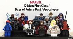 X-Men: First Class /Days of Future Past /Apocalypse MCU (Incomplete) (L1n6zz) Tags: atomicbricks phoenixcustom engineerio quicksilver emmafrost azazel mystique nightcrawler cyclops psylocke apocalypse angel storm blink magneto professorx xmen mcu marvel lego