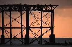 Brighton 19 March 2018 050 (paul_appleyard) Tags: brighton march 2018 pier west beach ruin ruined dusk orange sky