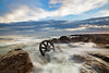 Wheel sets || Wingdang Island (David Marriott - Sydney) Tags: lakeillawarra newsouthwales australia au winding island wheel set train bogies sea dawn sunrise waves rock seascape illawarra nsw long exposure