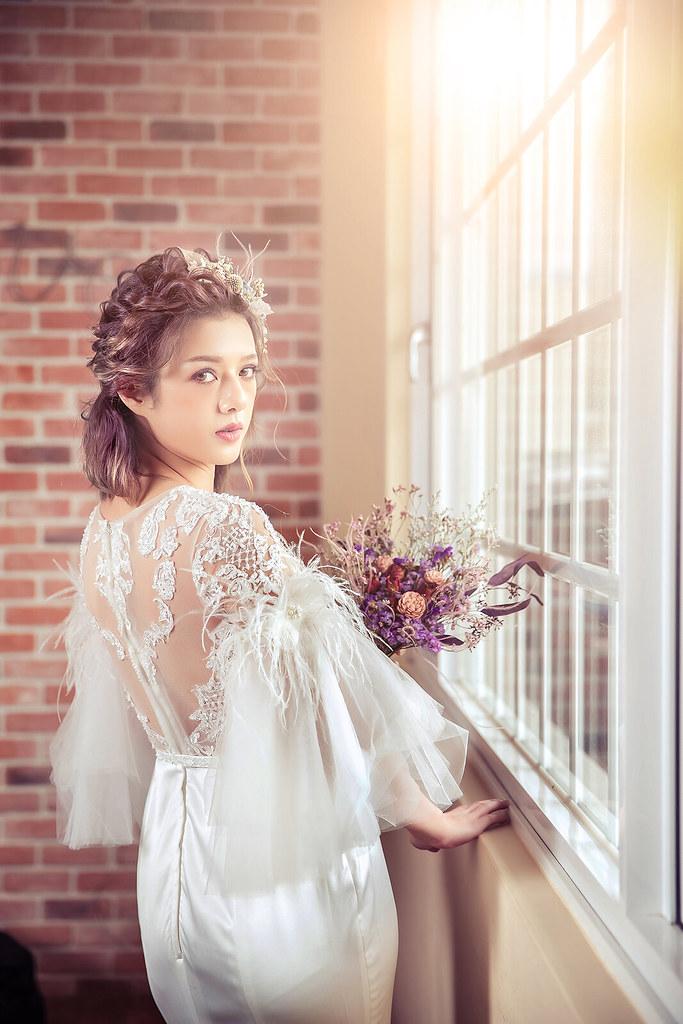 婚紗攝影-婚紗照-藝術照-新竹湖口-粉色小屋-逆光-美式婚紗