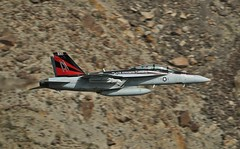 BLACK KNIGHT (Dafydd RJ Phillips) Tags: cag bird special tail lemoore nas station air naval f18 super hornet us navy low level military aviation vfa 154 vfa154 black knight knights star wars canyon death valley jedi transition panamint rainbow california