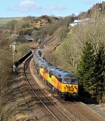 Grid Heaven At Horsfall. (Neil Harvey 156) Tags: railway 56078 56113 horsfallviaduct horsfalltunnel todmorden caldervalley prestondockstanks prestontanks bitumentanks 6e32 class56 colasrail colas grid doubleheaded