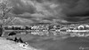 The lake (Syl-la) Tags: lake clouds nuage stormy lac noiretblanc blackwhite infrared infrarouge noirblanc
