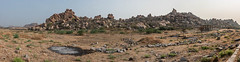 Hampi, Karnataka, Inde (Pascale Jaquet & Olivier Noaillon) Tags: cailloux montagnes ruines paysage panorama10 temple hampi karnataka inde ind