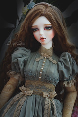 Ancient Hydrangea (AyuAna) Tags: bjd ball jointed doll dollfie ayuana design minidesign handmade ooak clothing clothes dress set outfit fantasy historical romantic secession style sewing crafting sewingfordolls sd sd13 sd10 sadol yena love60 whiteskin