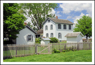 1910 Homestead at Sauder Village for Fence Friday