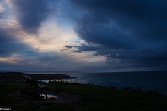 Dark (sonialopezgarrido.) Tags: storm sea winter landscape galicia sky dark