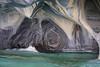 Puerto Rio Tranquilo, Capillas de Marmol, marble (blauepics) Tags: chile patagonia patagonien landscape landschaft andes anden natur nature hills hügel berge mountains chico región de aisén lake lago see water wasser rocks felsen stone stein marble marmor capillas marmol cave höhle blue blau puerto rio tranquilo